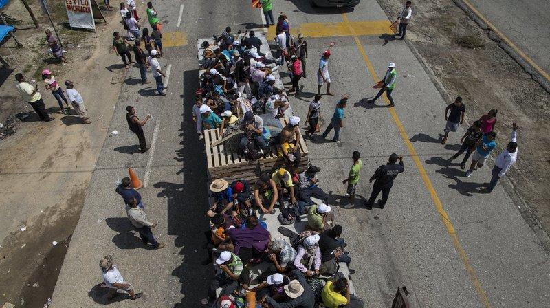 Fuyant la violence criminelle ou la misère, les migrants affichent leur détermination d'atteindre les États-Unis en dépit des déclarations de Donald Trump.