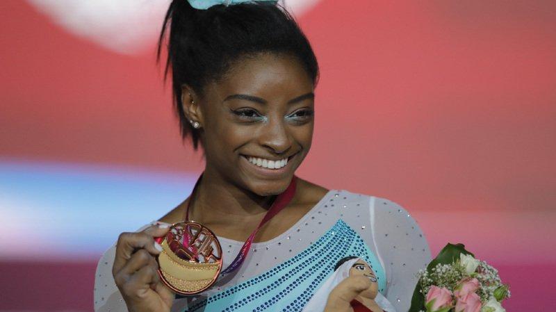 Gymnastique - Mondiaux de Doha: l'Américaine Simone Biles remporte un 4e titre historique