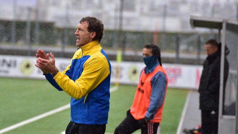 Joël Corminboeuf n'a pas pu coaché son équipe samedi à la Charrière.