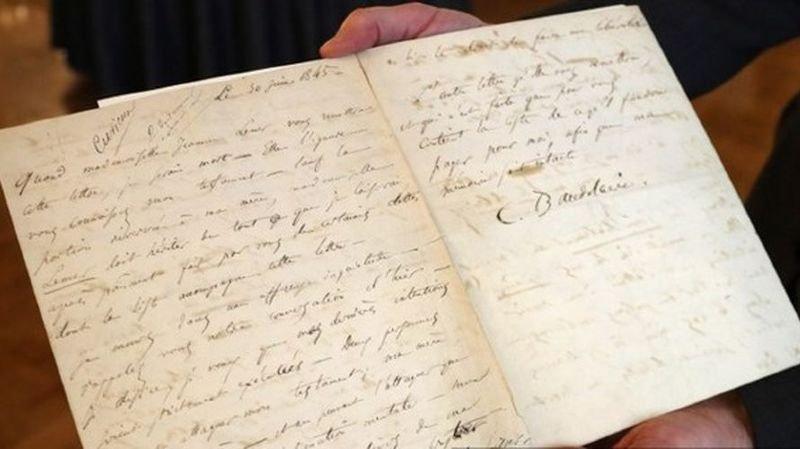 Enchères: une lettre de suicide deCharles Baudelairevendue à 267'000 francs