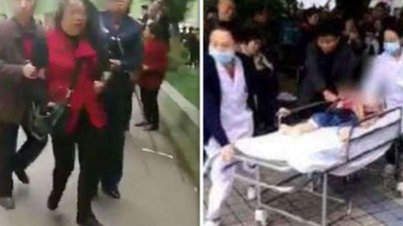Les enfants ont été évacués pour recevoir des soins, tandis que l'assaillante a été placée en détention.