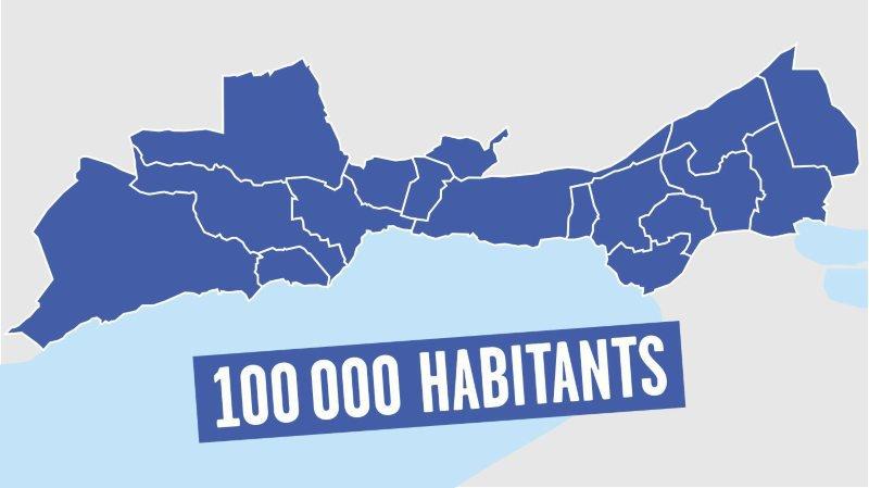 Et si le Littoral devenait une seule commune de 100'000 habitants?