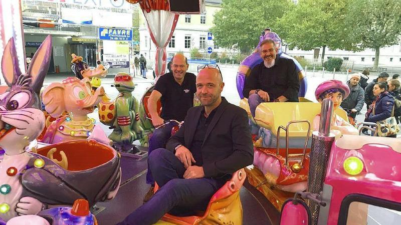 De gauche à droite: Olivier Simonet, vice-président, Benoît Raemy, responsable des animations, et Grégoire Walter, président de New Port Expo. Les trois hommes sont heureux et satisfaits du devoir accompli.
