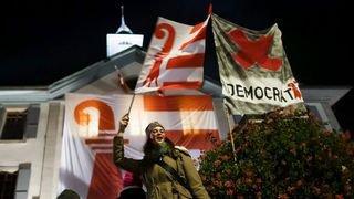 Manifestation nocturne à Moutier