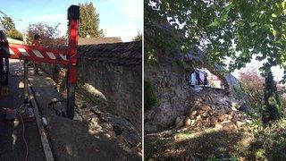 Neuchâtel: un mur s'écroule pendant une intervention des pompiers