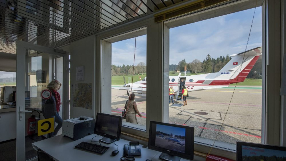 Les avions d'Air-Glaciers ne décolleront plus de l'aérodrome des Eplatures, à La Chaux-de-Fonds.