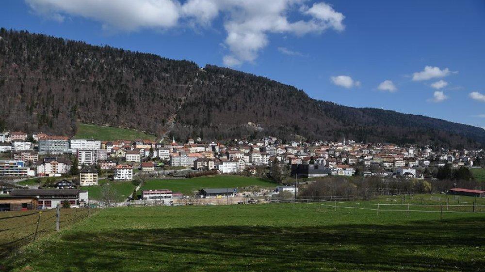 Vue partielle de Saint-Imier.
