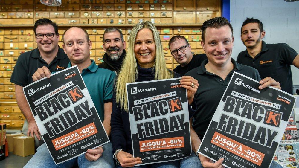 La quincaillerie chaux-de-fonnière Kaufmann et son magasin des arts de la table participe au Black Friday pour la deuxième fois, à son nouveau QG de la rue de la Pâquerette uniquement.