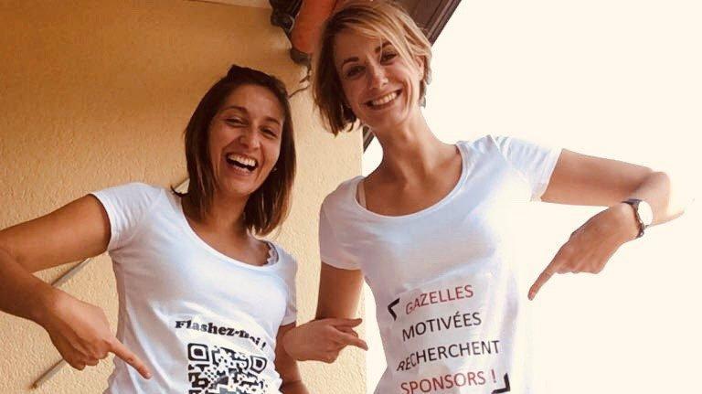 Alice Jeanningros et Claire Rodier-Mefflet (à droite) vont participer au rallye Aïcha des gazelles.
