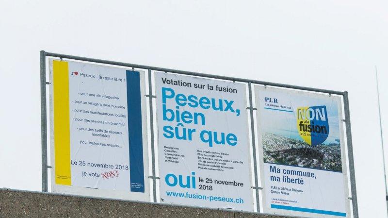 Vendredi soir, à peine plus d'un électeur sur trois à Peseux s'est exprimé sur le sort de la fusion avec Neuchâtel, Corcelles-Cormondrèche et Valangin.