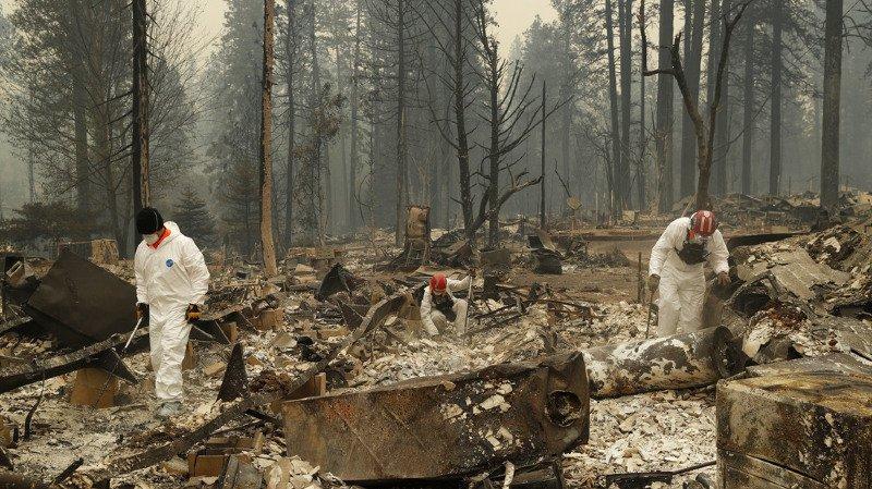 Californie: le bilan de l'incendie «Camp Fire» monte à 58 morts