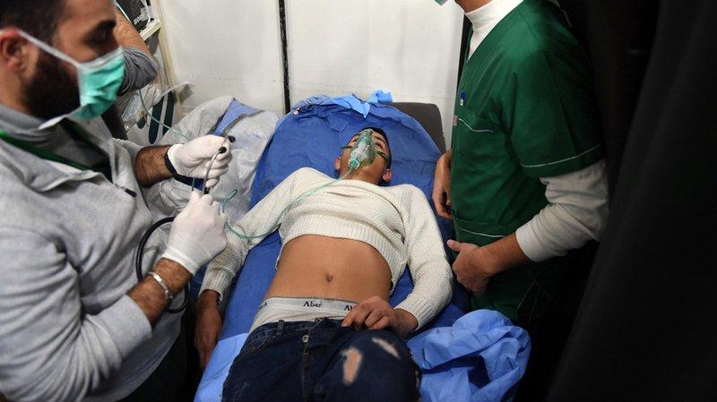"""L'agence officielle Sana a rapporté dans la nuit de samedi à dimanche """"107 cas de suffocation""""."""