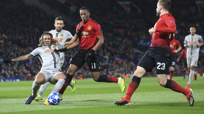 Young Boys s'incline dans les arrêts de jeu face à Manchester United.