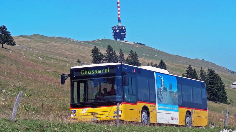 Excellente fréquentation pour les bus menant à Chasseral