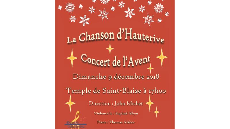 La Chanson d'Hauterive Concert de l'Avent