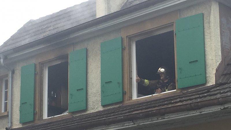 Début d'incendie à la rue de Bourgogne, à Neuchâtel