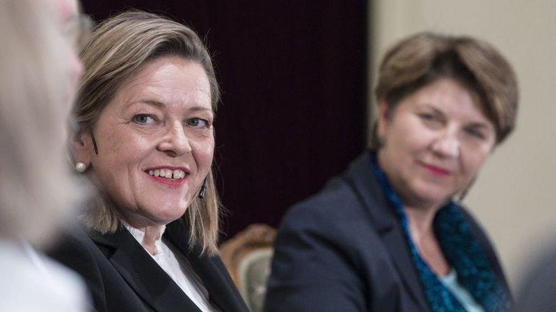 Le PDC présente deux femmes, Heidi Z'graggen et Viola Amherd, pour la succession de Doris Leuthard.