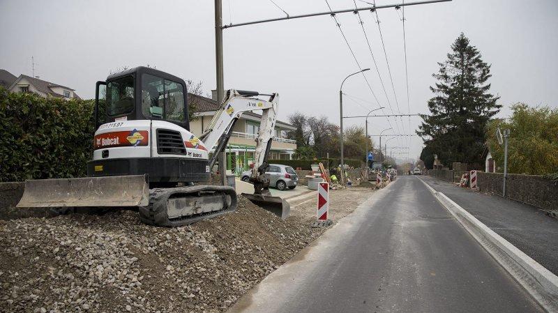 La fin du chantier à la rue des Longschamps, à Hauterive, est prévue pour mi-décembre.