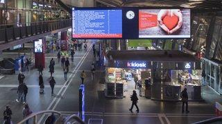 Trafic ferroviaire: plus aucun train des CFF ne circule à la gare de Lucerne