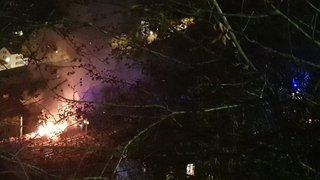 Des wagons en feu près d'une halte ferroviaire au Locle, le trafic est perturbé