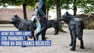 Les 84'000 francs en poche, Neuchâtel va acheter les trois loups et l'agneau de Davide Rivalta