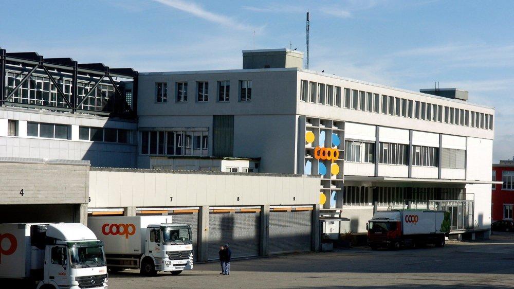 La centrale régionale de distribution de Coop à la rue du Commerce à La Chaux-de-Fonds.