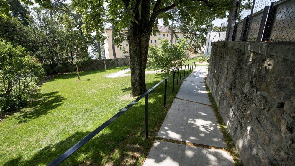 Le parc Hermann Russ, à Serrières, cédé en 2015 à la Ville de Neuchâtel, en droit de superficie.