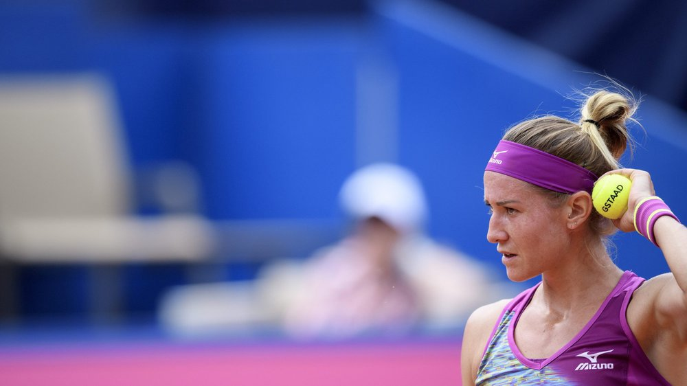 Conny Perrin au tournoi de Gstaad en juillet dernier.