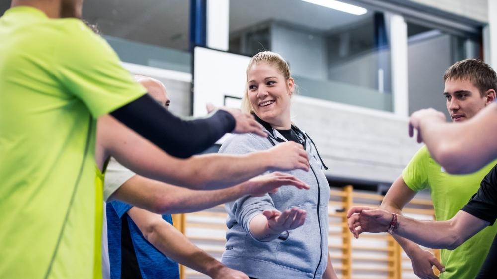 Mandy Wigger est heureuse à la tête de l'équipe de première ligue masculine de La Chaux-de-Fonds.