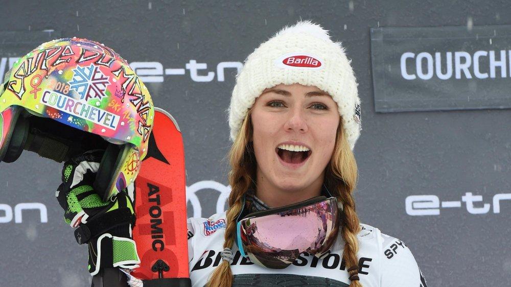 Mikaela Shiffrin tout en haut du podium: une image habituelle.