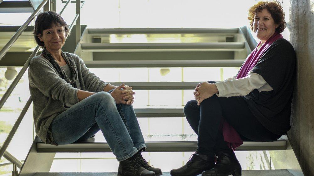 Dominique Tschumper et Antoinette Mura ont créé une association visant à sensibiliser les gens à la non-violence.