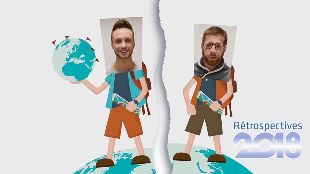 Nicolas Kernen (à gauche) et Jérémy Neukomm voyagent désormais chacun de leur côté.