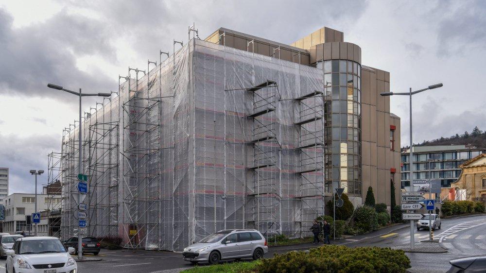 """Le site du futur Innoparc 4, ancien bâtiment de """"L'Express"""", actuellement en travaux."""