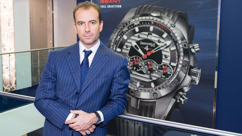 Mario Peserico, directeur général d'Eberhard & Co: «Revenir à La Chaux-de-Fonds était un peu le rêve.»