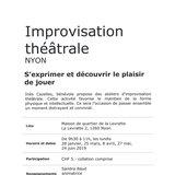 Atelier d'improvisation théâtrale