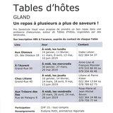 """Table d'hôte """"Aux Oiseaux"""""""