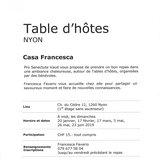 """Table d'hôtes """"Casa Francesca"""""""