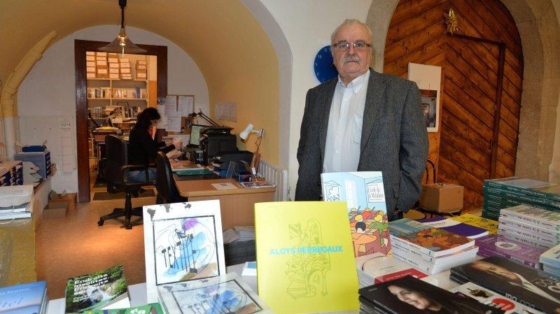 Philippe Dubath dans les locaux des éditions Attinger à Hauterive en novembre 2014