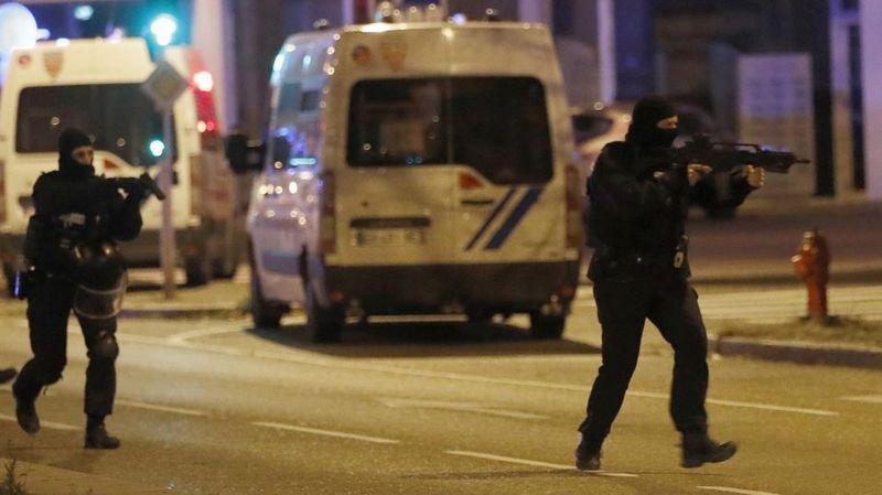 Lors de la traque d'un terroriste à Strasbourg.