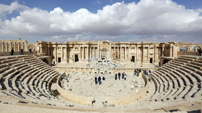 Depuis le début de la guerre en 2011, plusieurs sites archéologiques ont fait l'objet de pillages ou de destructions, comme la cité antique de Palmyre (archives).