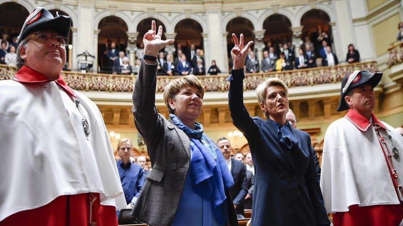Conseil fédéral: Karin Keller-Sutter et Viola Amherd élues au premier tour