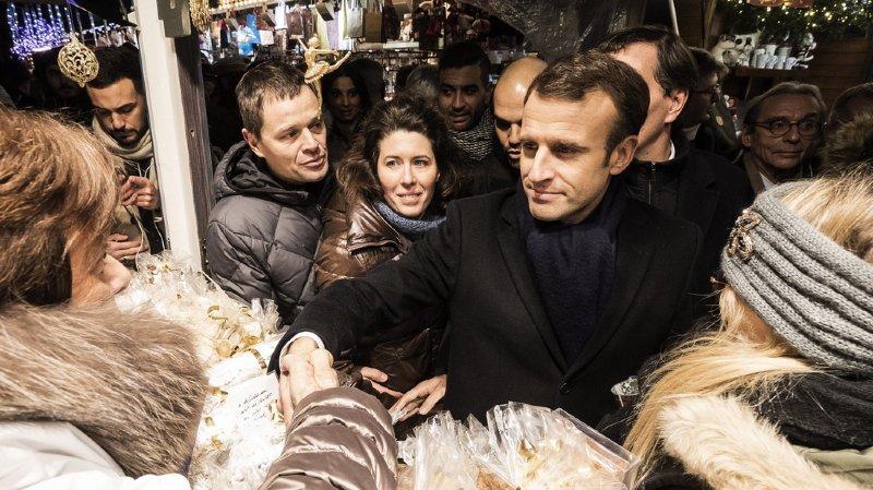 Le président Emmanuel Macron s'est rendu en fin d'après-midi à Strasbourg.