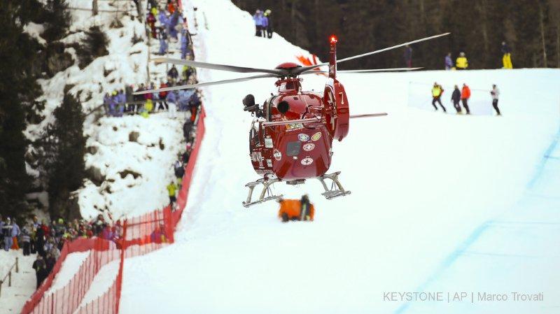 Ski alpin: victime d'une lourde chute à Val Gardena, Marc Gisin a été opéré et n'est plus sous respiration artificielle