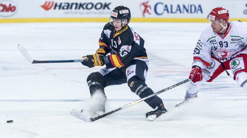 Alexandre Texier (à gauche) a marqué le 2 à 1 pour KalPa Kuopio 53 secondes après que les Tchèques ont égalisé 1-1.