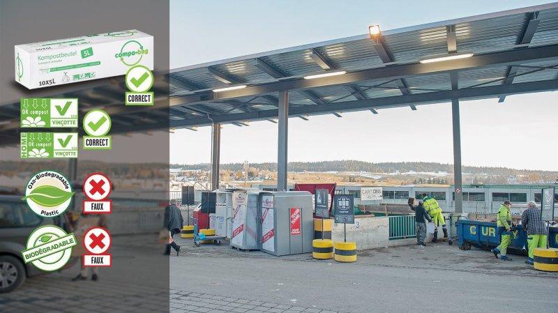 A La Chaux-de-Fonds comme ailleurs, biodégradable ne rime pas avec compostable