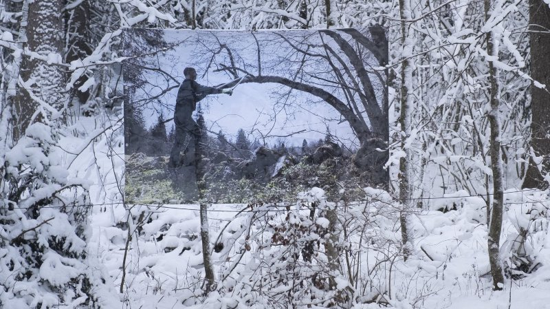 Une exposition attend les skieurs sur les pistes des Bugnenets-Savagnières