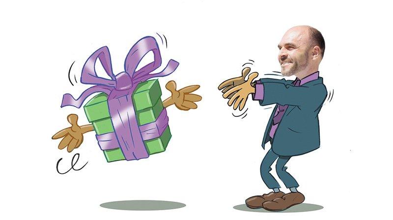 C'est cadeau! Une «reliseuse» pour Laurent Favre