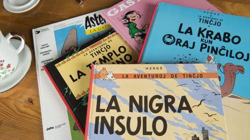 Tintin, Astérix et Gaston Lagaffe sont notamment traduits en espéranto.
