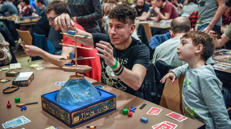 Le jeu – ici le festival Ludesco à La Chaux-de-Fonds - a des vertus pédagogiques, selon Claude-Alain Kleiner.