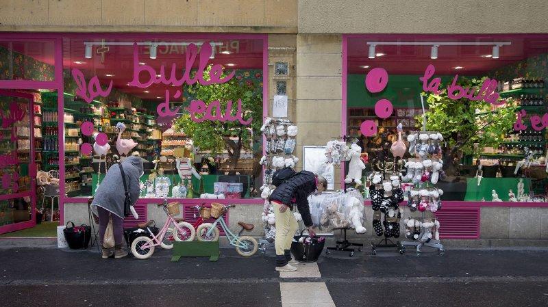 Pour la cinquième année consécutive, les magasins du canton ont pu ouvrir le dimanche avant Noël. Ici à Neuchâtel.